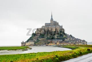 view on Mont Saint-Michel, France