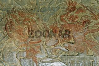 Flachrelief, Westlichen Gallerie, Angkor Wat