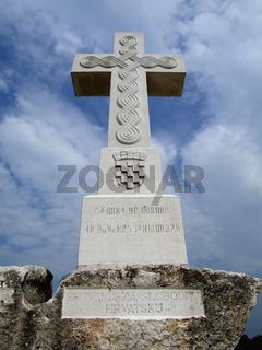 Grand Cross for victims of the war in Vukovar. Vukovar, Croatia.