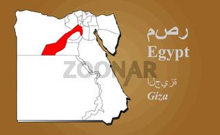 Ägypten Giza hervorgehoben