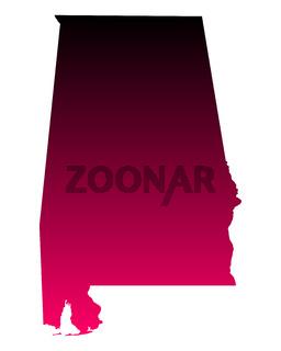 Karte von Alabama