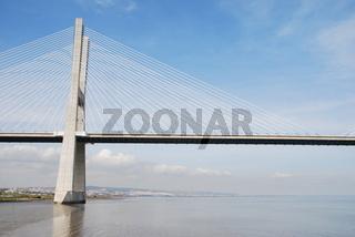 longest bridge in Europe known as Vasco da Gama (over the Tagus river)