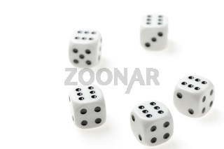 isolated dices