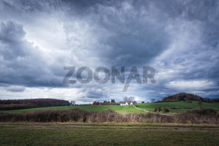 Landscape before a storm in Denmark