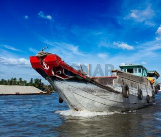 Boat. Mekong river delta