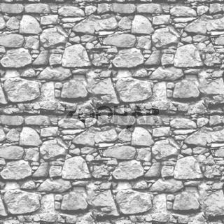 Stone wall - seamless realistic illustration background