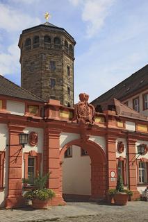 Altes Schloß im Zentrum von Bayreuth, Oberfranken, Bayern, Deutschland, Schloßturm und Schlosskirche,
