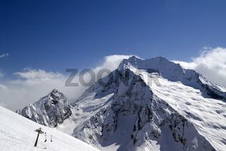 Ski slope. Ski resort.