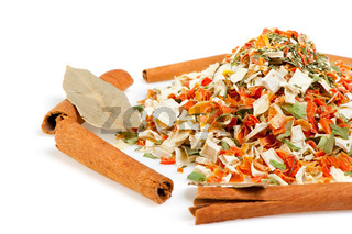 Dry spices background