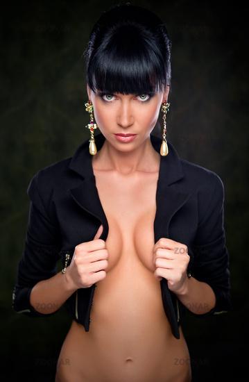 Gorgeous stylish brunette indoors
