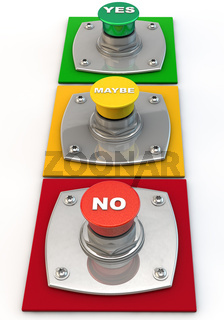 Yes no maybe Button