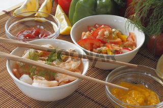 Garnelen / Grilled prawns