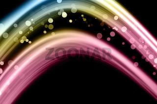 fantastic wave background design with bubbles