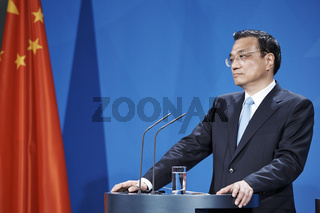 Angela Merkel, German Chancellor and Li Keqiang, Chines Prime Minister, at the joint press conference