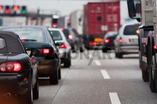 Stau auf der Autobahn