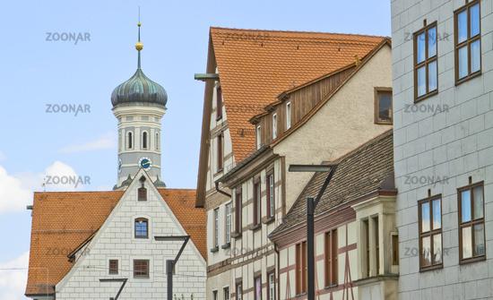 Neue Straße Ulm, look in the direction of Trinity chur
