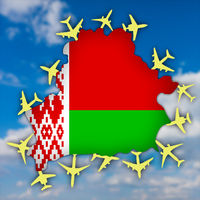 Belarus surrounded by planes