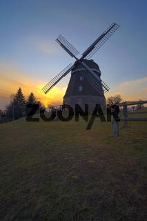 Holländerwindmühle in Woldegk, Brandenburg