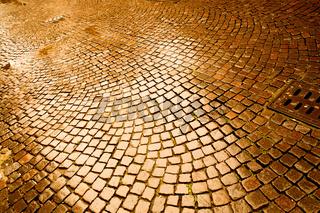 Cobblestone pavement in Verona
