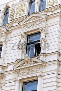 Prag, schön renovierte Häuser n der Altstadt