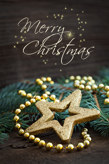 merry christmas card with text