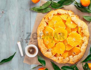 caraway and orange tart