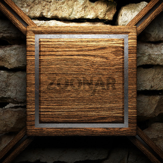 wooden plate on wall