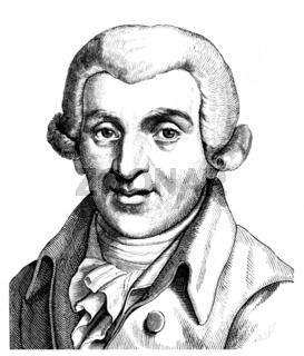 Johann Wilhelm Ludwig Gleim, 1719 - 1803, a German poet of the E