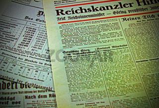 Zeitungen nach der Reichstagswahl 1933