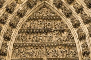 Michaelsportal, nördliche Querhausfassade, Kölner Dom, Köln, Nordrhein-Westfalen, Deutschland, Europa
