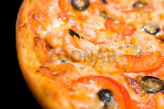 shrimp pizza, macro