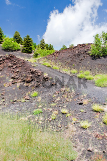 path between old craters of Etna,