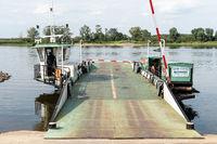 Elbe ferry near Schnackenburg, Wendland