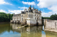 Chateau de Chambord, royal medieval castle at Chambord, France.