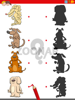 shadow game with dogs characters