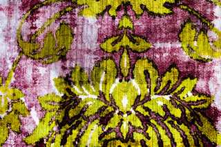 Fashionable Modern Wallpaper Surface Background with Colorful Floral Ornament