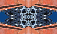 Mirrored architecture abstract