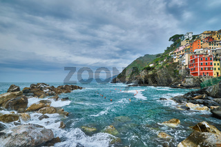 Riomaggiore village, Cinque Terre, Liguria, Italy