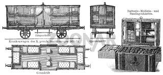 Ambulance trains, 19th Century