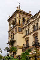 view of the historic Hotel Alfonso XIII in downtown Seville