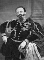 Victor Emmanuel II of Italy (1820-1878) on engraving from 1873. First king of a united Italy since the 6th century during 1861-1878. Engraved by unknown artist and published in ''Portrait Gallery of Eminent Men and Women with Biographies''