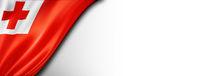 Tonga flag isolated on white banner