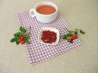 Red rose hip tea, fruit tea from rosehip peel
