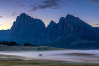 Daybreak on Seiser Alm, Alpe di Siusi, South Tyrol