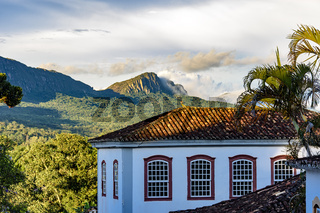 Old colonial style house in the city of Tiradentes