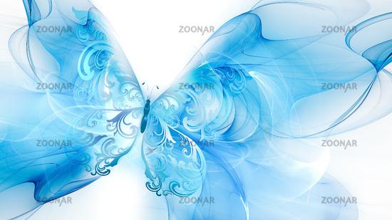 Blue air butterfly