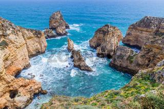 Cliffs view near Lagos, Algarve, Portugal