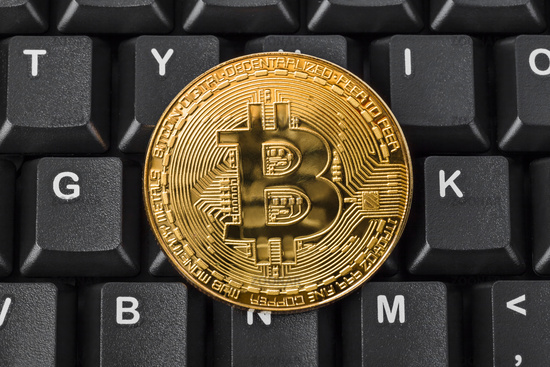 Bitcoin and computer - business background
