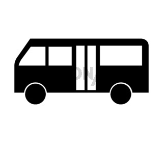 city bus icon illustrated in vector on white background