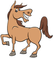 cartoon horse farm animal character